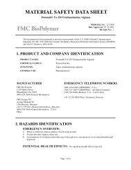 Protanal® TA 250 Triethanolamine Alginate - FMC Corporation
