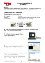 Receiver-Updateanleitung für MAX-Serie - FTE Maximal