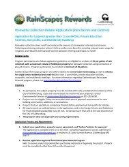 Rainscapes Rewards Rainwater Collection Application - Large Lot
