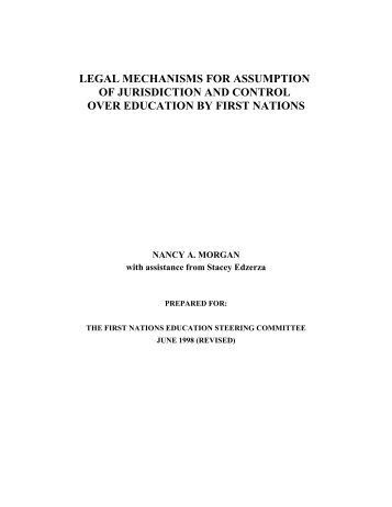 legal mechanisms for assumption of jurisdiction and ... - FNESC