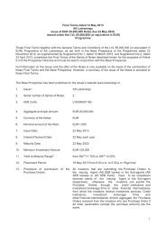Final Terms dated 14 May 2013 AS Latvenergo Issue of EUR ...