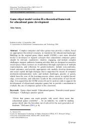 Game object model version II: a theoretical framework for ...