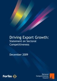 Driving Export Growth: Statement on Sectoral Competitiveness - Forfás