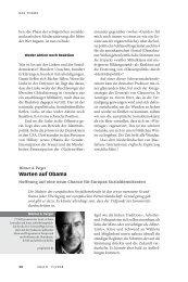 Warten auf Obama - Neue Gesellschaft Frankfurter Hefte