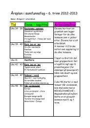 Årsplan i samfunnsfag – 6. trinn 2012-2013 Tid ... - Frosta kommune