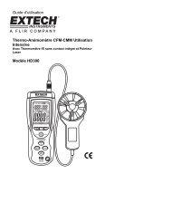 Guide d'utilisation Thermo-Anémomètre CFM-CMM Utilisation ...
