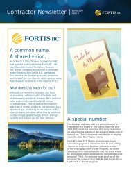FortisBC Contractor newsletter Spring 2011 Issue 2