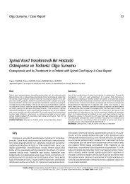 Spinal Kord Yaralanmal› Bir Hastada Osteoporoz ve ... - FTR Dergisi