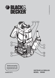 INSTRUKCJA OBSŁUGI MODEL KW900 - Service - Black & Decker