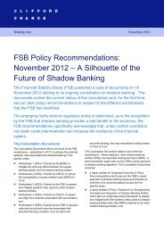 FSB Policy Recommendations - Financial Risk and Stability Network