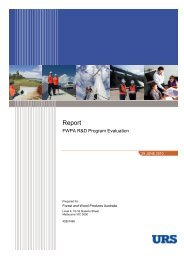 R&D Program Evaluation Report 2010 - Forest and Wood Products ...