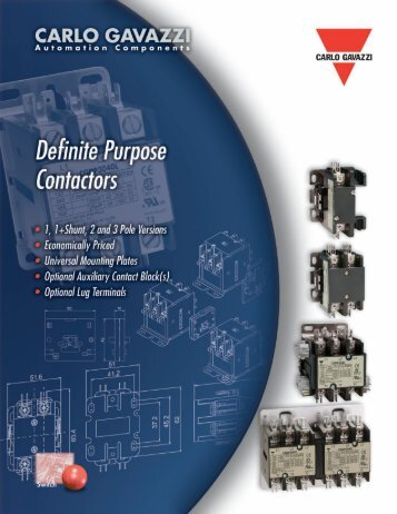 further information - Carlo Gavazzi