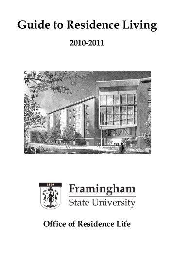 Guide to Residence Living - Framingham State University