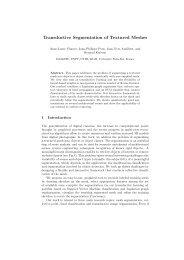 Transductive Segmentation of Textured Meshes - imagine - ENPC