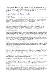 Press release: Sectoral Regulation - Forfás