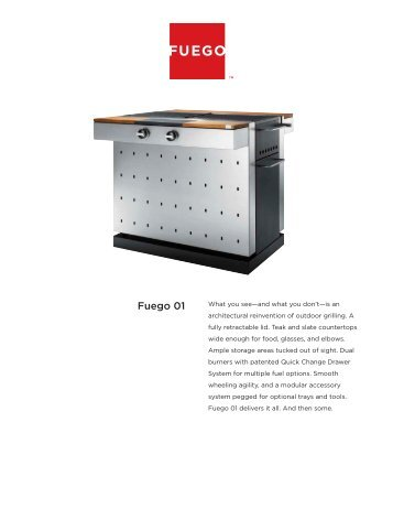 Fuego Grill Spezifikation - Gardelino