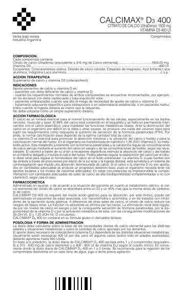 Calcimax D 3 400 - Gador SA