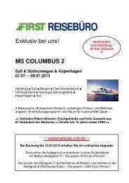 0 MS Columbus 2 Vollcharter - First Reisebüro