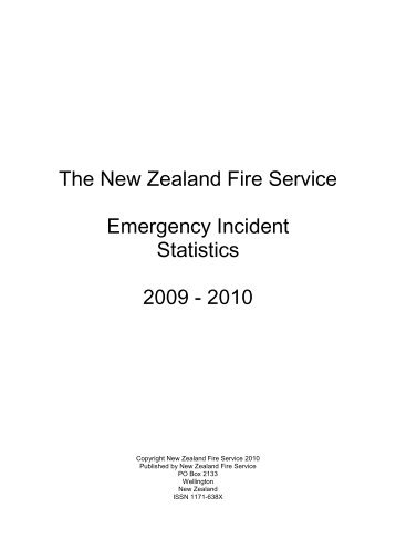 The New Zealand Fire Service Emergency Incident Statistics 2009 ...