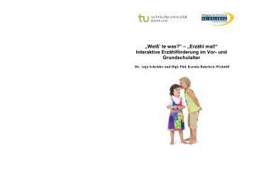 """""""Weiß' te was?"""" – """"Erzähl mal!"""" Interaktive ... - TU Dortmund"""
