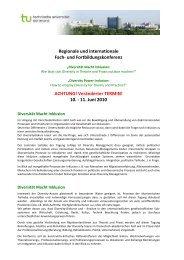 Konferenzprogramm aktuell - TU Dortmund