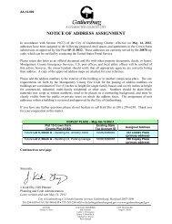 Crown Farm Neighborhood 1 Address Assignment - City of ...