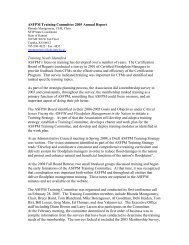 ASFPM Training Committee 2005 Annual Report - The Association ...