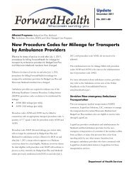 ForwardHealth Update - 2011-80 - New Procedure Codes for ...