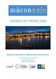 DOSSIER DE PRESSE 2009 - Maison de la France
