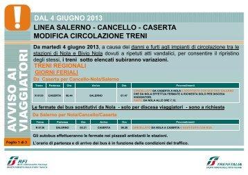 Variazioni Caserta-Salerno Reg 4 giugno13 - FSNews