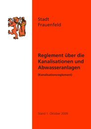 Kanalisationsreglement [167 KB] - Stadt Frauenfeld