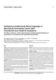 Kadmiyumun Kortikal Kemik Mineral Yo¤unlu¤u ve ... - FTR Dergisi