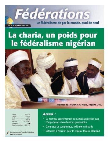 La charia, un poids pour le fédéralisme nigérian - Forum of ...