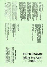 März-April 2002 - Frauenhetz