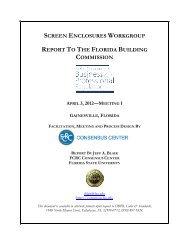 April 3, 2012 Facilitator's Summary Report - Florida Building Code ...