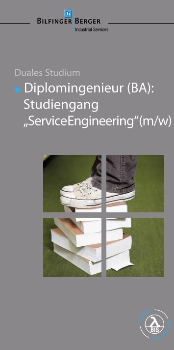 Flyer zum dualen Studium - Bilfinger Berger Industrial Services