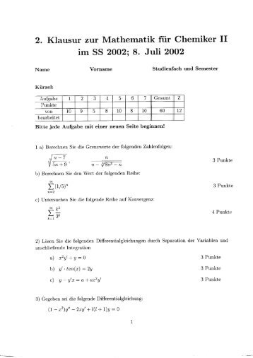 Klausur Mathematik 2, Teil Statistik und Finanzmathematik Lösungen