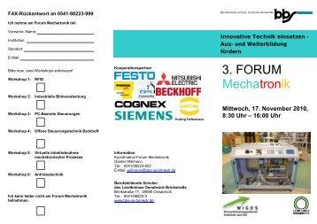 3. FORUM Mechatronik - foraus.de