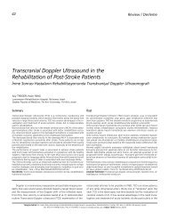 Transcranial Doppler Ultrasound in the Rehabilitation ... - FTR Dergisi