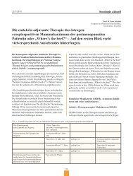 Endokrin adjuvante Therapie des Mammakarzinoms
