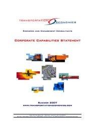 Corporate Capabilities Statemen tt - Federal Transit Administration ...