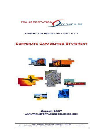 Corporate Capabilities Statemen tt - Federal Transit Administration ...