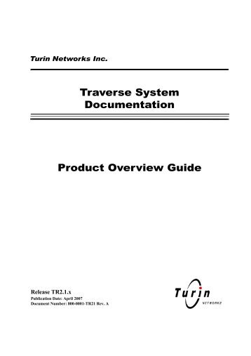 traverse product overview guide - Force10 Networks