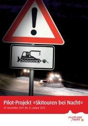 Flyer Skitouren bei Nacht - Flumserberg