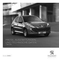 PEUGEOT 206+ - Preisliste