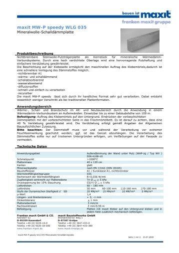 maxit mw speedy wlg 040 mineralwolle lamellenplatte. Black Bedroom Furniture Sets. Home Design Ideas