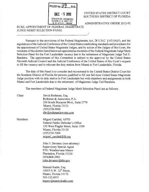 DEC -5 2012 - United States District Court