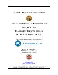 Facilitator Report - Florida Building Code Information System