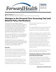 ForwardHealth Update: Changes to the Personal Care Screening ...