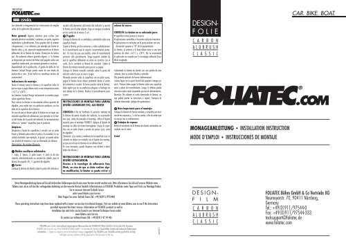DESIGN- FOLIE - Foliatec